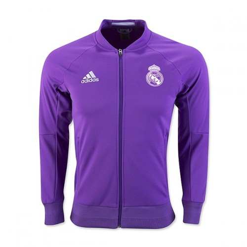 Jaket Bola Real Madrid Away Ungu 2016-2017