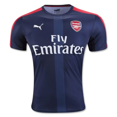Jersey Bola Arsenal Prematch Navy 2016-2017
