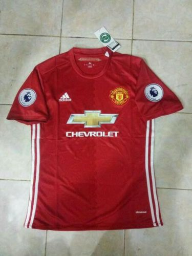 Jersey Bola MU Home 2016-2017 Patch BPL