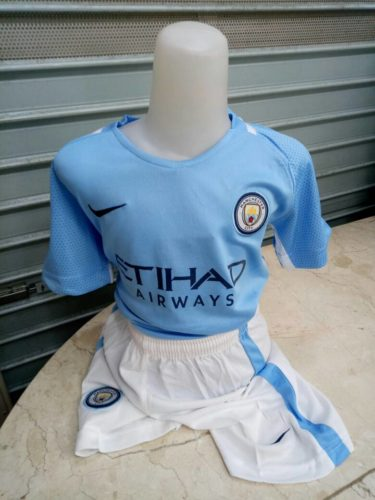 Kaos Jersey Manchester City Home Kids 2017-2018