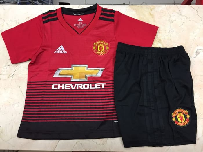 f81f6d5865f Jersey Manchester United Home Anak-anak 2018-2019 - Kaos Jersey Bola ...